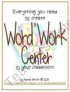 Create a Daily 5 Word Work Center 125 pages of ready-to-use material from Katie Smith on TeachersNotebook.com (125 pages)