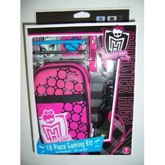 Monster High 10 piece DS, DSI, 3DS case and accessories.
