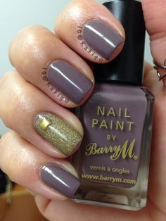 This polish came all the way from England. It's called 'Cappuccino' by Barry M
