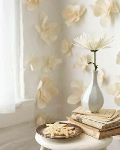 Paper Wall Flowers: Great recipes and more at http://www.sweetpaulmag.com !! @Sweet Paul Magazine