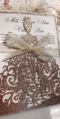 There are thousands of ready-made wedding invites to select from; simply choose a design, send the details, and the printer can have it all set within weeks. With such a large selection, it may be tough to choose which one is finest. Cinderella Quinceanera Themes, Quinceanera Planning, Quinceanera Decorations, Indian Wedding Invitation Cards, Acrylic Wedding Invitations, Wedding Cards, Quince Invitations, Sweet 15 Invitations, Carton Invitation