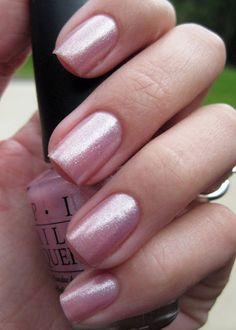 """OPI """"Princesses Rule."""" I just bought this & love it! I feel like a princess! Love it! So girly! :)"""
