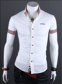 Cheap shirt shirt, Buy Quality shirt mexico directly from China clothes milan Suppliers: 2016 Summer Mens Plaid Patchwork Social Shirt Clothes Men Casual Slim Fit Short Sleeve Shirts Camisa Masculina Casual Shirts For Men, Men Casual, Camisa Slim, Style Masculin, Style Casual, Mode Style, Men's Style, Collar Shirts, Short Sleeve Dresses