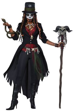 The Voodoo Magic Witch Doctor Costume for women includes a witch doctor-style outfit and accessories. Cast voodoo spells at the Halloween party dressed as a witch doctor! Voodoo Priestess Costume, Voodoo Costume, Voodoo Halloween, Hallowen Costume, Scary Halloween Costumes, Voodoo Dolls, Halloween Party, Snake Costume, Women Halloween