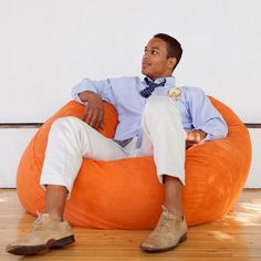 I'd buy this bean bag any day if this gawjuss man came with it!
