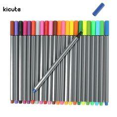 24 Colors Fine-liner Pens Super Fine Marker Pen