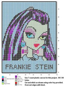 Monster High P.C. on Pinterest | Monster High, Plastic Canvas and Wall ...