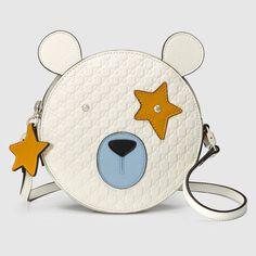 #Gucci Children's bear #messenger #bag