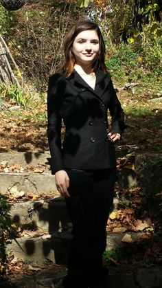 Designer Chef Coat by Sandra Harvey - Chef and Catering Jacket-Black