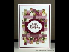 - Using Up Off-cuts - JanB UK Stampin' Up! Fun Fold Cards, Folded Cards, Quilting Designs, Quilt Design, Card Making Techniques, Paper Pumpkin, Card Tutorials, Masculine Cards, Stampin Up Cards