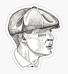 Peaky Blinders stickers featuring millions of original designs created by independent artists. 4 sizes available. Sad Drawings, Pencil Art Drawings, Art Sketches, Peaky Blinders Tommy Shelby, Hand Sticker, Doodle Tattoo, Perspective Art, Aesthetic Stickers, Cool Stickers