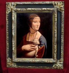 Dama con Ermellino Mirror Photo Frames, Picture Frames, Wall Mirror, Antique Frames, Portrait Paintings, Portraits, Renaissance, Mona Lisa, Texture