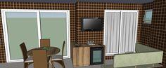 Varanda - Apartamento Residencial de um Casal com Dois Filhos