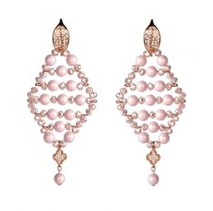 Learn how to make this Pastel Rose Diamond Earrings