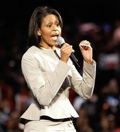 Michelle Obama - peplum blazer