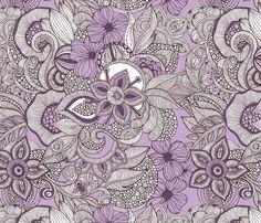 Doodles purple & brown 01
