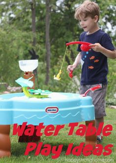 The kids e to cool off quick with our @LittleTikes Water Table! Here's more water table Ideas for extra outdoor play time fun this summer! (sponsored)