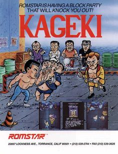 The Arcade Flyer Archive - Video Game Flyers: Kageki, Romstar Vintage Video Games, Classic Video Games, Retro Video Games, Retro Games, Video Game Posters, Video Game Art, Archive Video, Pc Engine, School Games