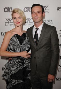 Whitney Able and Scoot McNairy arrive at the OK! Magazine USA 5th Anniversary Party on September 1, 2010 in Hollywood, California. (photo Jason Merritt)
