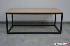 499 zł: Przedmiotem aukcji jest stolik kawowy wykonany z metalu (nogi) oraz dębu olejowanego grubości 27mm (blat) . Podstawa stołu wykonana z profili zamkniętych 25x25x2 mm + malowana proszkowo na wybrany kolor standardowo