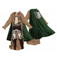 Attack on Titan Survey Corps Male Snuggler Blanket | Anime Etc