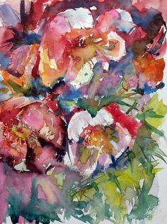 ARTFINDER: Beautiful flowers III by Kovács Anna Brigitta - Original watercolour painting on high quality watercolour paper. I love landscapes, still life, nature and wildlife, lights and shadows, colorful sight. Thes...