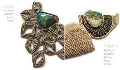 marianna m. | Handmade jewelry with Polymer Clay and Macramé – Cavandoli knots – Χειροποίητα κοσμήματα με πολυμερή πηλό και Macramé – Cavandoli κόμπους