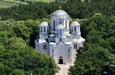 The Church of Saint George - Centralna Srbija - Oplenac - Serbia. Built in 1907 - it demonstrates how traditional Byzantine architecture is 'frozen' in time