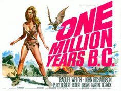"""""""One millions years BC"""" (1966): si te gusta ver a dinosaurios animados fotograma a fotograma y a Raquel Welch con un bikini de pieles, ésta es tu película."""
