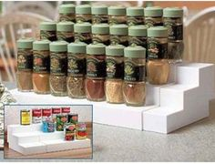 Keep your home tidy with the help of our affordable home storage solutions and organizational products at Collections Etc. Organize Kitchen Spices, Kitchen Cupboard Organization, Kitchen Spice Racks, Spice Organization, Small Space Organization, Organizing Tips, Kitchen Cupboards, Bathroom Organization, Organising
