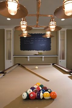 The basement isn't just for storage. From pingpong to a replica stadium, bright ideas to transform underused space Game Room Basement, Basement Ideas, Basement Decorating, Basement Pool, Basement Layout, Decorating Ideas, Basement Makeover, Basement Designs, Billards Room