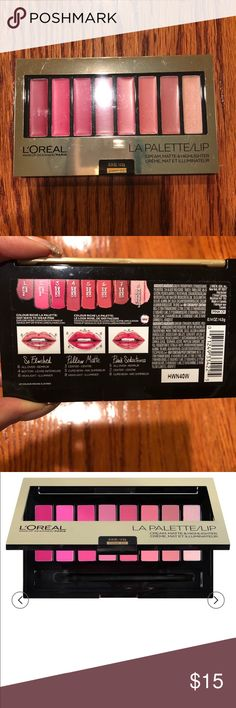 L'Oreal LA Palette/Lip  (Pink 01) 💋💄 New L'Oreal LA Palette/Lip Cream, matte & highlighter.  New sealed.  Create, Re-create Your Color Obsession 3 Finishes, 8 Shades Infinite Possibilities pink 01 L'Oreal Makeup Lipstick