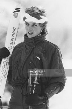 Diana, Princess of Wales during a skiing holiday in Klosters, Switzerland, 6th February 1986.