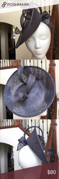 Pewter Sinamay Derby Headband Saucer Fascinator New Arrival! Stunning side saucer fascinator. Fixed headband. Order today to get it in time for the Derby! Made in the 🇵🇭.   Please ask ALL questions before buying, sales are final. I try to describe the items I sell as accurately as I can but if I missed something, please LMK FIRST so we can resolve it before you leave < 5🌟rating.   🚫TRADES/OFFLINE TRANSACTIONS/SPAM COMMENTS ✅Use OFFER BUTTON please (Please consider the 20% PM fee with…