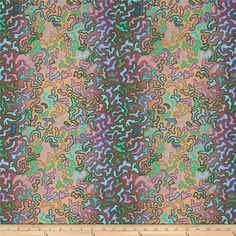 Kaffe Fassett Collective Babaganoush Umber from @fabricdotcom  Designed by Kaffe Fassett for Westminster/Rowan Fabrics, this cotton print is perfect for quilting, apparel and home decor accents. Colors include green, aqua, blue, rose and shades of brown.