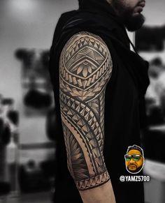 Search inspiration for a Tribal tattoo. All Tattoos, Tribal Tattoos, Sleeve Tattoos, Tattoo Images, Tattoo Photos, Angelo Tattoo, Tattoo Models, Angel Tattoo Men, Big Tattoo