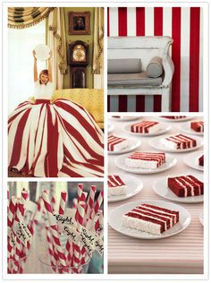 candy cane stripes (this would be a fun christmas party theme!)