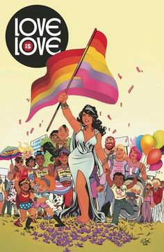 Cover image for Love is Love anthology. Organized by Marc Andreyko Edited by Sarah Gaydos and Jamie S. Rich ISBN 978-1-63140939-4