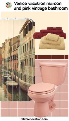 Bathroom Renovation Shows 11 ideas to decorate a burgundy and pink bathroom | pink, pink