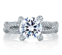 Designer Royal Vine Engagement Ring. Love the Clarity!!!