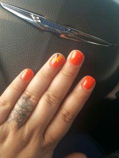 Sunflower gel nails