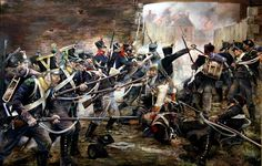 The French Attack on the North Gates at Hougoumont - Chris Collingwood.