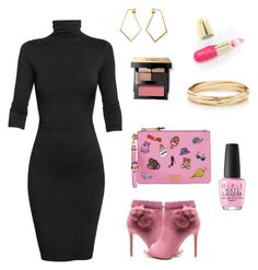 """""""Untitled #124"""" by candy2979 on Polyvore featuring Undress, Moschino, Dutch Basics, Winky Lux, OPI and Bobbi Brown Cosmetics"""