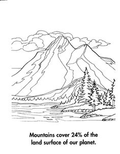 nice colorful pictures of nature free download | colouring pages ... - Mountain Landscape Coloring Pages