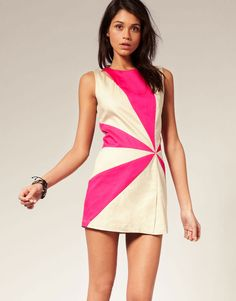 Ringspun Dress With Contrast Panels