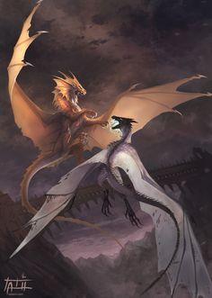 Mythical Creatures Art, Mythological Creatures, Magical Creatures, Fantasy Creatures, Fantasy Images, Dark Fantasy Art, Fantasy Artwork, Cool Dragons, Fantasy Beasts