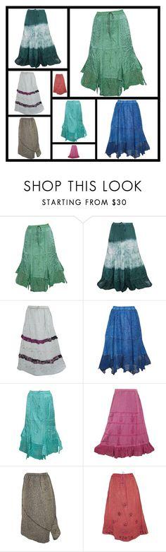 Boho Hippie Long Skirts by tarini-tarini on Polyvore