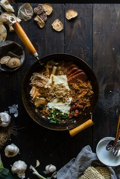 "Budae jjigae (Korean ""army base stew"") (recipe) / by Two Red Bowls"