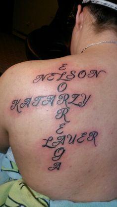 Names tattoo