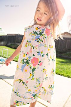 make lots of vintage pillowcase nightgowns for a little pixie.